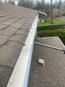 Gutters cleaned